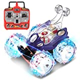 JOYIN Radio Remote Control Invincible Tornado Acrobatic Stunt RC Car Vehicle with Flashing LED Light and Playful Music (Rechargeable Battery for Vehicle Included)