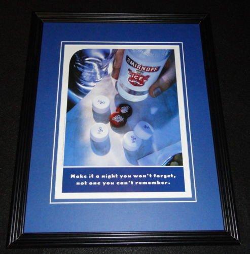 2001 Smirnoff Ice 11x14 Framed ORIGINAL Vintage Advertise...