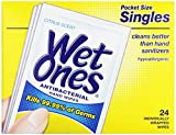 Health & Personal Care : Wet Ones Antibacterial Thick Moist Towelettes, Citrus Scent, Singles, 24 ct
