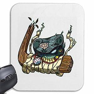 Mousepad (Mauspad) MONSTER BEIST IN EISHOCKEYSCHLÄGER EISHOCKEY...