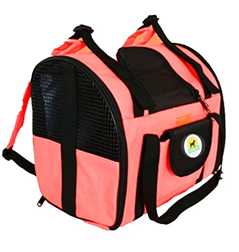 Price comparison product image Dogs Backpack,  Hometom Pet dogs and cats out of the vehicle-mounted luggage bag (Orange)