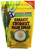 Organic Coconut Palm Sugar, 16 Oz (Pack of 3) by Wholesome Sweeteners