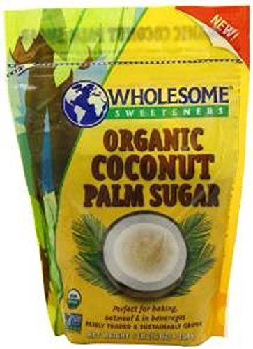 Organic Coconut Palm Sugar, 16 Oz (Pack of 3) by Wholesome Sweeteners by Wholesome Sweeteners