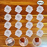 Furniture Silicon Protection Cover - 16Pcs Square Furniture Feet Chair...