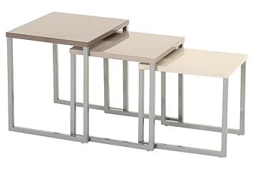 Lot de 3 tables basses gigognes - Utilisation intérieure et ...
