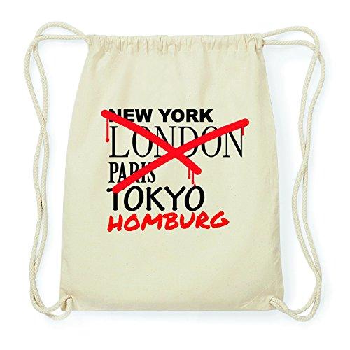 JOllify HOMBURG Hipster Turnbeutel Tasche Rucksack aus Baumwolle - Farbe: natur Design: Grafitti