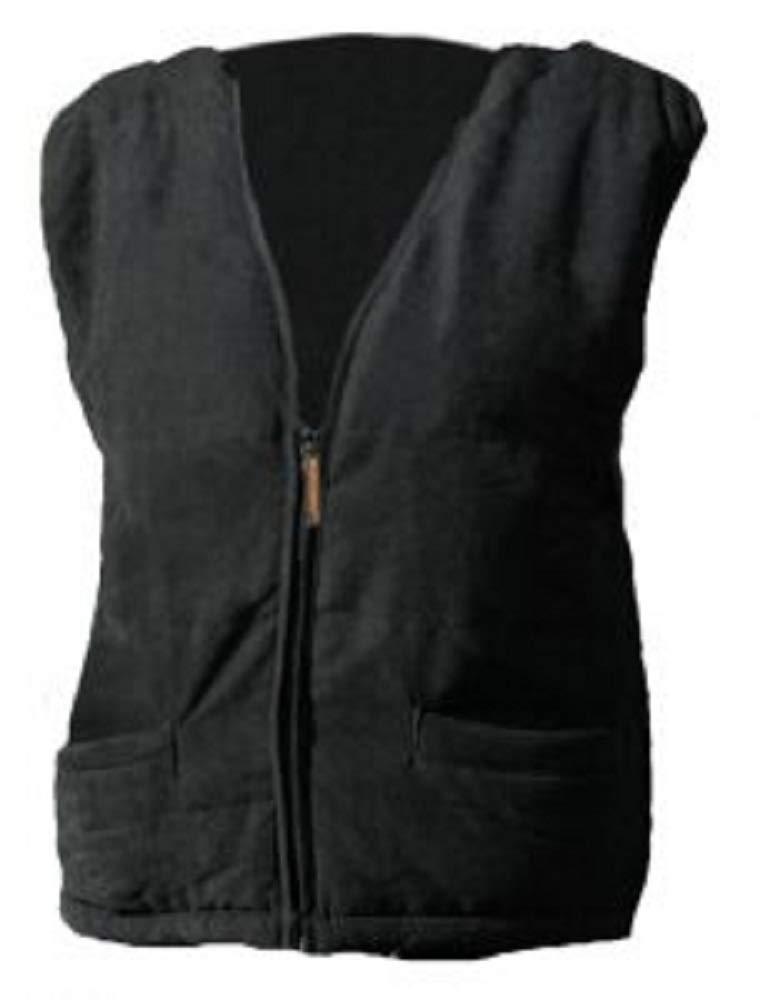 Warmawear - Chaleco calefactor a pilas con cuello para hombre.