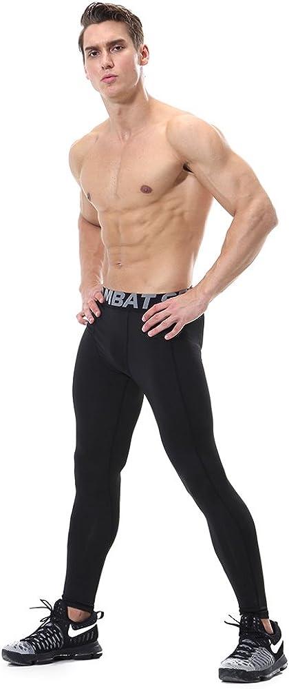 FELICON/® pantaloni da ginnastica da uomo sportivo di uomo da uomo a compressione indossare abiti da allenamento ad asciugatura rapida traspirante confortevole leggings base fitness Pantaloni termici