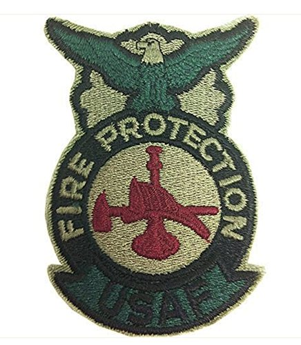Vanguard AIR FORCE PATCH: FIRE PROTECTION: FIREFIGHTER - ABU