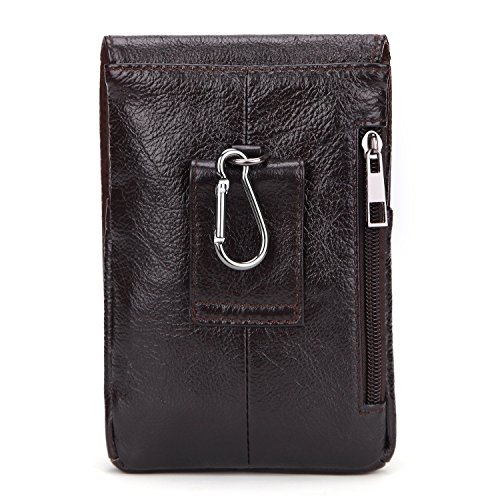 A Wear First Mountaineering Phone Parcel Outdoor Pockets Of Oil Men's Bag Brown Male Wallet Vintage Leather Belt Wax Layer Eqwggzpv