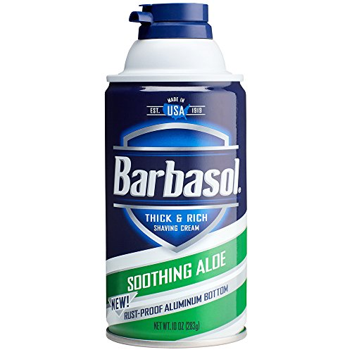 Barbasol Soothing Aloe Thick and Rich Shaving Cream for Men,