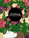 img - for Wedding Planning Checklist: Floral Green Color, Wedding Log, Wedding Planning Notebook Large Print 8.5