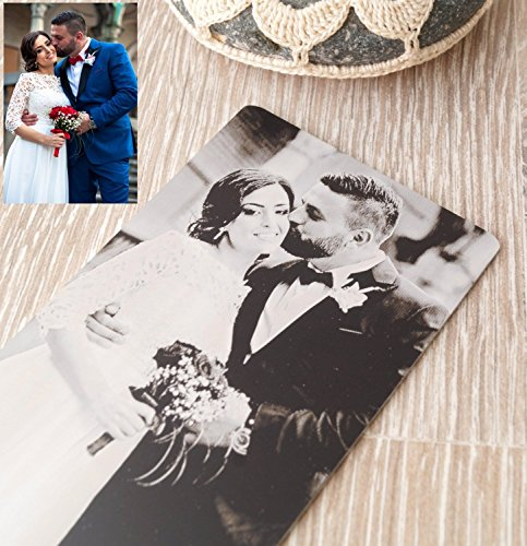 Card Custom Photo (Real photo engraved wallet insert card, custom wallet insert, metal wallet insert, your picture engraved on one side and message on the back)