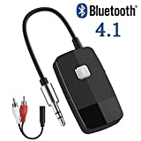 Giveet Bluetooth V4.1 Audio Receiver, Wireless Portable Bluetooth Adapter with 3.5 mm Aux Output for Home Stereo Hi-Fi Music Streaming Car Audio System Wired Headphones & Speaker (Not for TV)