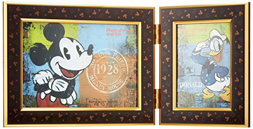 L1 plane FUJICOLOR photo frame photo frame twin Disney Mickey Mouse multifaceted / 2L1 side character Brown 21517 - International Version (No Warranty)