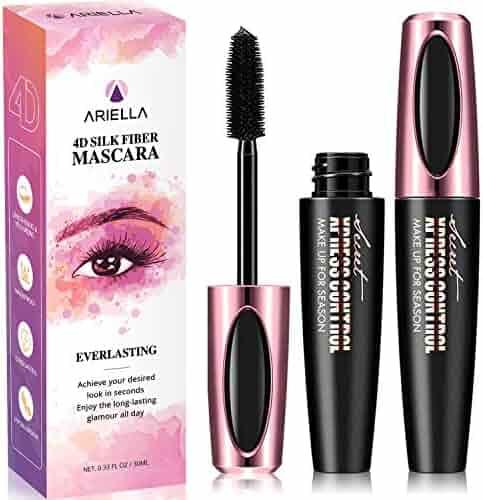 ec70406f318 Ariella 4D Silk Fiber Lash Mascara Waterproof, Luxuriously Longer 4D Mascara,  Waterproof Mascara,