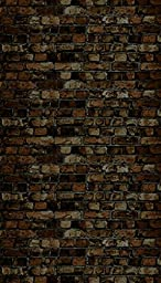 Ella Bella Photography Backdrop Paper, 4-feet by 12-feet, Aged Brown Brick