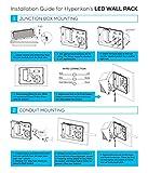Hyperikon 45W LED Wall Pack Fixture, 250-300W