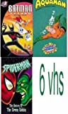 super heroes 6 vhs: Super Powers Collection - Aquaman, Batman Beyond: School Dayz, Superman - Mechanical Monsters, Spider-Man - The Return of the Green Goblin (Animated Series), Cartoon Favorites-Superman, superman vol 2