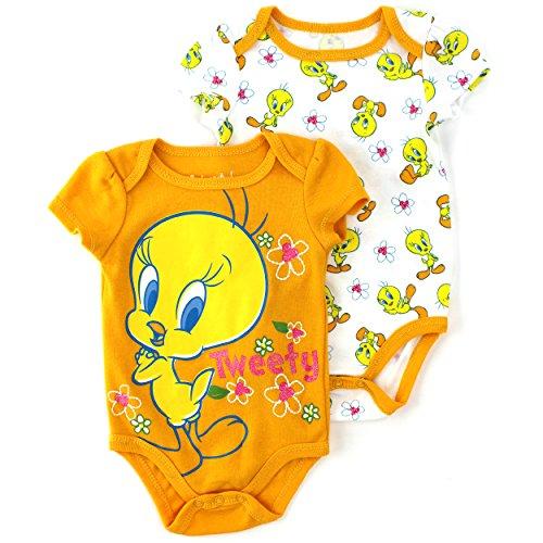 Looney Tunes Tweety Baby 2 pack Bodysuits (6/9M)