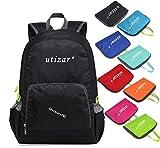 Utizar Lightweight Folding Backpack Gym Bag Foldable Day Backpack Outdoor Bag Travelling Backpack Camping Sports Backpack Shopping Ultra-light Backpack (Black)