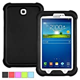 Poetic Samsung Galaxy Tab S 8.4 Case [TURTLE SKIN Series] - Rugged Silicone Case for Samsung Galaxy Tab S 8.4 (SM-T700 / SM-T705) Black (3-Year Manufacturer Warranty from Poetic)