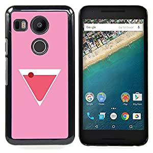 - Martini Cocktail Drink Liquor Pink - - Snap-On Rugged Hard Cover Case Funny HouseFOR LG Google Nexus 5X