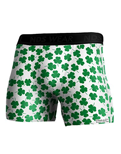 (TooLoud Find The 4 Leaf Clover Shamrocks Boxer Brief Dual Sided Large All Over Print )