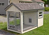 Dog Kennel - Deluxe Outdoor House for Dogs - Built in the US to Keep Your Pet Safe and Attractive to Keep Your Neighbors Happy - Arrives Fully Assembled To Keep You Happy