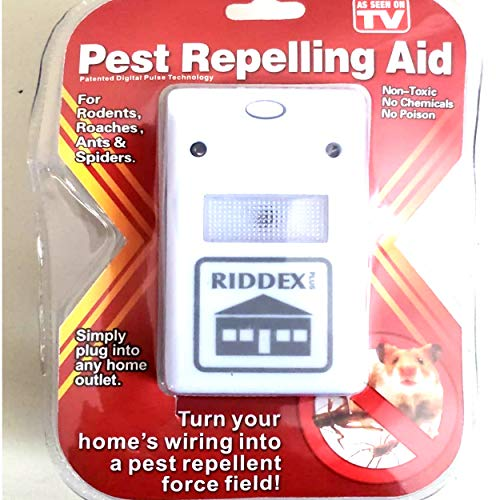 YOLO Stores - Buy 3 GET 4 (Set of 4) Riddex Plus Pest Repellent/Repeller Plug in Electronic Ultrasonic for Rodents, Mosquito, Rats, Roaches, Ants, Spiders, As Seen on TV, White, 110V