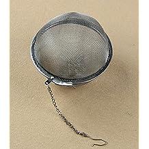 Hunulu 3size Tea Ball Stainless Steel Sphere Locking Spice Strainer Mesh Infuser Filter (large)