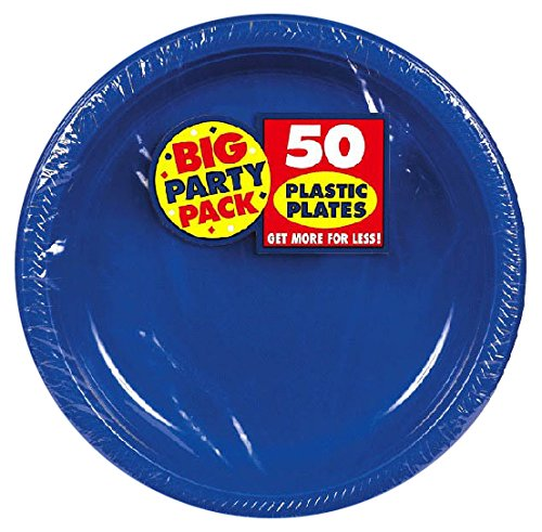 Amscan (Amsdd) Big Party Pack Plastic Plates by Amscan (Image #1)