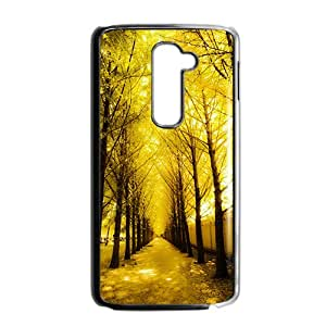 Yellow tree Phone Case for LG G2 Case