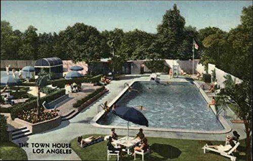 The Town House Pool Los Angeles, California Original Vintage - Los Colortone Angeles