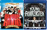 Mel Brooks' Masterpiece Collection: Robin Hood Men in Tights & Young Frankenstein Comedy Movie Blu Ray bundle