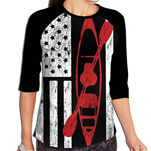 Women's Printing Raglan Half Sleeve Tops Sweatshirt T-Shirt L ()