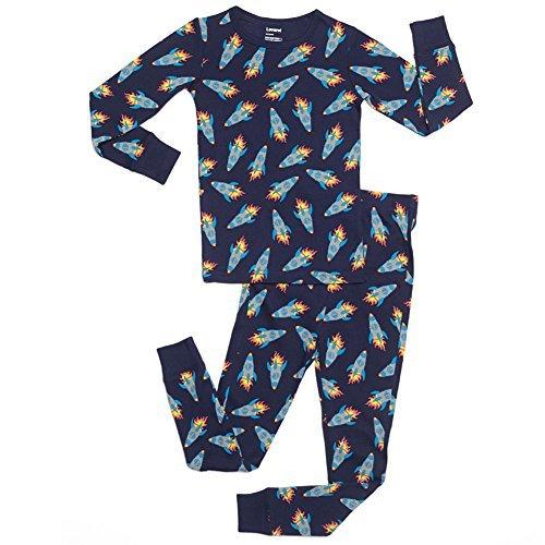 "Leveret Kids ""Rockets"" 2 Piece Pajama Set 100% Cotton"