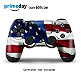 Skins for PS4 Controller - Decals for Playstation 4 Games - Stickers Cover for PS4 Slim Sony Play Station Four Controllers PS4 Pro Accessories PS4 Remote Wireless Dualshock 4 Skin - Stars N Stripes