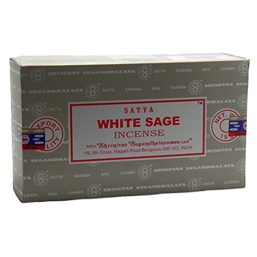 Title: Satya Nag Champa White Sage Fragrance Incense Sticks-12packs x 15grams (1) ()