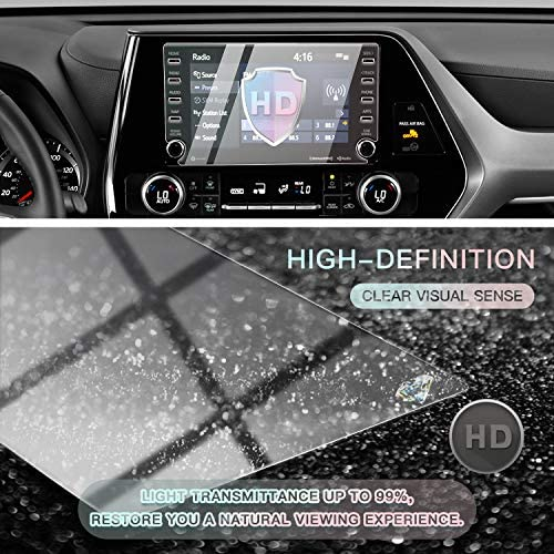 MBSIX Tempered Glass Screen Protector Compatiple with 2020 Highlander 8 Inch Touch Screen,HD Clear,Scratch-Resistant,Anti Glare,Protecting Toyota 8 Inch Screen