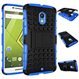 MOONCASE Moto X Play Case Detachable 2 in 1 Hybrid Armor Design Shockproof Tough Rugged Dual-Layer Case Cover with Built-in Kickstand for Motorola Moto X Play Blue