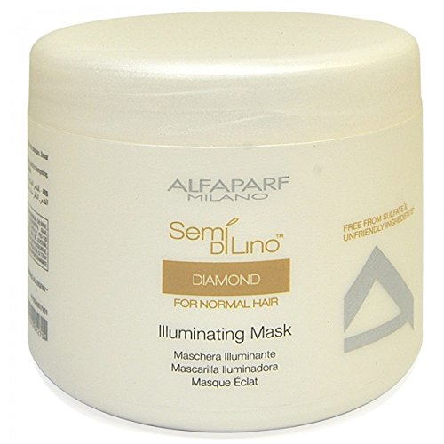 ALFAPARF Semi di Lino Diamante Illuminating Mask, 17.4 Oz 492.5 g