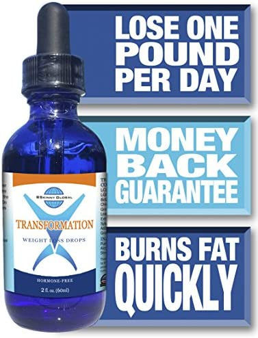 BSkinny Global Transformation Weight Loss Drops - Diet's Protocol Brochure - Packaged in an Informative Box - 2 oz.