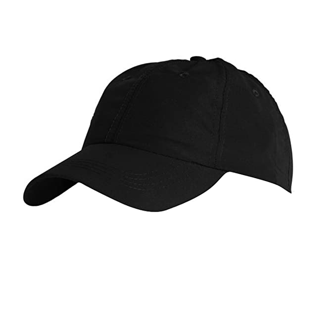 SOLS Unisex Meteor 6 Panel Plain Baseball Cap (ONE) (Black)  Amazon ... 3984793289fb