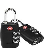 Candados Combinación, LEADSTAR 2 x Candado TSA Equipaje de Seguridad - Combinación De 3 Dígitos para Maletas Equipaje