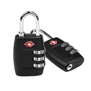 Candados Combinación, LEADSTAR 2 x Candado TSA Equipaje de Seguridad - Combinación De 3 Dígitos para Maletas Equipaje: Amazon.es: Equipaje