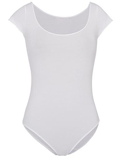 MONOPRIX FEMME - Body en coton et élasthanne chiné - Femme - Taille   38 40  - Couleur   BLANC  Amazon.fr  Vêtements et accessoires f3d923916ac