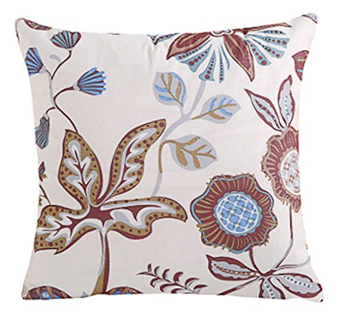 LivebyCare Velvet FlowersFilled Throw Pillow 18x18 Inch PP Cotton Insert Rayon Velvet Seat Chair Back Cushion Zipper for Decorative Car Home Sofa Lumbar Back Pillow by LivebyCare