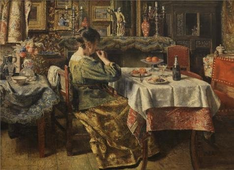 [Oil Painting 'Henri De Braekeleer - The Meal,1885', 20 x 27 inch / 51 x 70 cm , on High Definition HD canvas prints is for Gifts And Bed Room, Game Room And Home Theater Decoration,] (Redneck Costume Ideas)