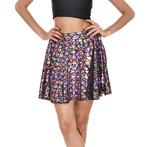 Mini Jupes cailles Femmes de Multicolore Cute poisson Party Mxssi vase Mermaid jupe Skater 8Hw1qtq